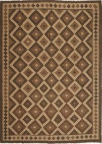 Kelim Maimane Matta 210X295 Äkta Orientalisk Handvävd Ljusbrun/Brun/Mörkbrun (Ull, Afghanistan)