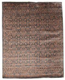 Damask Matta 232X292 Äkta Modern Handknuten Mörkbrun/Brun ( Indien)
