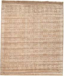 Damask Matta 253X305 Äkta Modern Handknuten Ljusbrun/Brun Stor ( Indien)