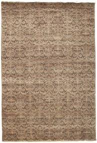 Damask Matta 207X304 Äkta Modern Handknuten Brun/Ljusbrun ( Indien)
