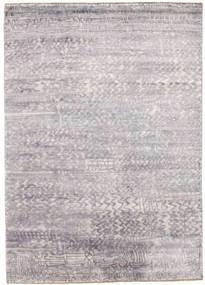 Damask Matta 175X246 Äkta Modern Handknuten Ljusgrå/Beige ( Indien)