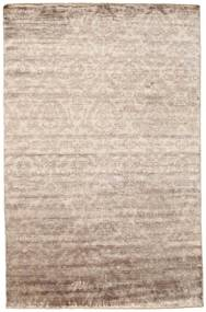Damask Matta 195X302 Äkta Modern Handknuten Ljusgrå/Vit/Cremefärgad ( Indien)