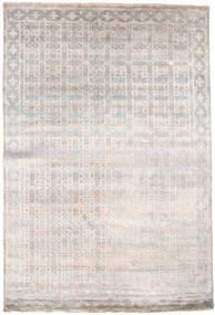 Damask Matta 184X274 Äkta Modern Handknuten Ljusgrå/Vit/Cremefärgad ( Indien)