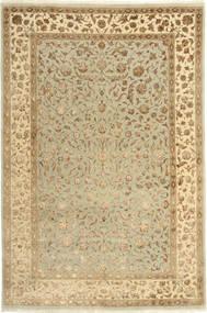 Tabriz Royal Magic Matta 165X246 Äkta Orientalisk Handknuten Mörkbeige/Ljusgrön/Ljusbrun ( Indien)