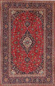 Keshan Matta 195X307 Äkta Orientalisk Handknuten Mörkröd/Mörkbrun (Ull, Persien/Iran)
