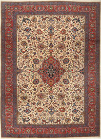 Sarough Matta 255X355 Äkta Orientalisk Handknuten Mörkröd/Mörkbrun Stor (Ull, Persien/Iran)