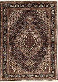 Tabriz 40 Raj Matta 107X149 Äkta Orientalisk Handknuten Mörkröd/Mörkbrun (Ull/Silke, Persien/Iran)