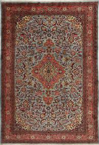 Mehraban Matta 210X315 Äkta Orientalisk Handknuten Mörkröd/Mörkgrå (Ull, Persien/Iran)