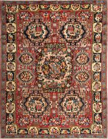 Bakhtiar Matta 263X336 Äkta Orientalisk Handknuten Mörkbrun/Mörkröd Stor (Ull, Persien/Iran)