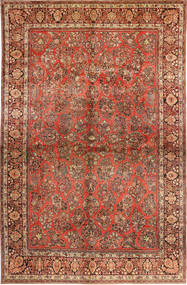 Sarough American Matta 310X485 Äkta Orientalisk Handknuten Mörkbrun/Roströd Stor (Ull, Persien/Iran)