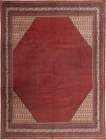 Sarough Mir Matta 304X405 Äkta Orientalisk Handknuten Mörkröd Stor (Ull, Persien/Iran)