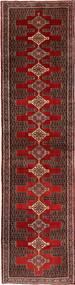 Senneh Matta 97X385 Äkta Orientalisk Handknuten Hallmatta Mörkröd/Mörkbrun (Ull, Persien/Iran)