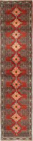 Senneh Matta 93X412 Äkta Orientalisk Handknuten Hallmatta Brun/Mörkbrun (Ull, Persien/Iran)
