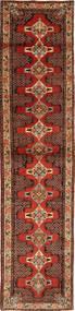 Senneh Matta 90X397 Äkta Orientalisk Handknuten Hallmatta Mörkbrun/Mörkröd (Ull, Persien/Iran)