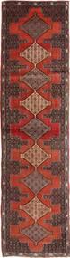 Senneh Matta 95X355 Äkta Orientalisk Handknuten Hallmatta Mörkbrun/Ljusbrun (Ull, Persien/Iran)