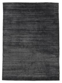 Bambu Silke Loom - Kolgrå Matta 160X230 Modern Lila/Svart/Mörkgrå ( Indien)