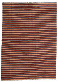 Kelim Matta 172X240 Äkta Orientalisk Handvävd Mörkröd/Blå (Ull, Persien/Iran)