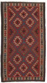 Kelim Maimane Matta 107X197 Äkta Orientalisk Handvävd Mörkröd/Mörkbrun (Ull, Afghanistan)