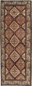 Hamadan Patina Matta 105X285 Äkta Orientalisk Handknuten Hallmatta Brun/Mörkgrå (Ull, Persien/Iran)