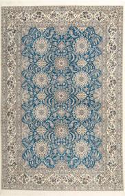 Nain 6La Habibian Matta 210X323 Äkta Orientalisk Handknuten Ljusgrå/Mörkbeige (Ull/Silke, Persien/Iran)