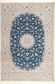 Nain 6La Habibian Matta 204X304 Äkta Orientalisk Handknuten Ljusgrå/Vit/Cremefärgad (Ull/Silke, Persien/Iran)