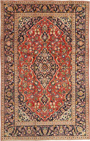 Keshan Matta 197X303 Äkta Orientalisk Handknuten Mörkröd/Röd (Ull, Persien/Iran)