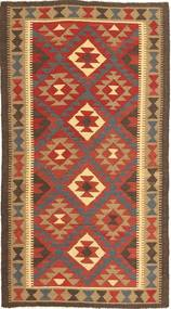 Kelim Maimane Matta 100X190 Äkta Orientalisk Handvävd Ljusbrun/Röd (Ull, Afghanistan)