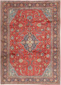 Sarough Matta 240X340 Äkta Orientalisk Handknuten Roströd/Ljusbrun (Ull, Persien/Iran)