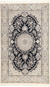 Nain 6La Habibian Matta 150X250 Äkta Orientalisk Handknuten Ljusgrå/Beige (Ull/Silke, Persien/Iran)