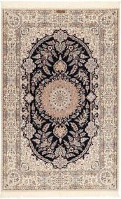 Nain 6La Habibian Matta 158X245 Äkta Orientalisk Handknuten Ljusgrå/Beige (Ull/Silke, Persien/Iran)