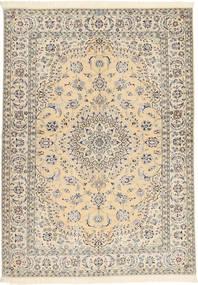 Nain 6La Habibian Matta 145X207 Äkta Orientalisk Handknuten Beige/Ljusgrå (Ull/Silke, Persien/Iran)