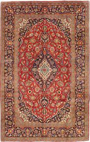 Keshan Matta 192X306 Äkta Orientalisk Handknuten Mörkröd/Ljusbrun (Ull, Persien/Iran)