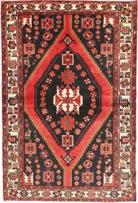 Bakhtiar Matta 147X220 Äkta Orientalisk Handknuten Mörkbrun/Mörkröd (Ull, Persien/Iran)