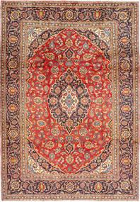 Keshan Matta 203X296 Äkta Orientalisk Handknuten Mörkröd/Roströd (Ull, Persien/Iran)