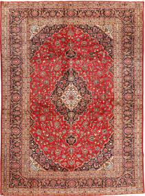 Keshan Matta 300X410 Äkta Orientalisk Handknuten Mörkröd/Roströd Stor (Ull, Persien/Iran)
