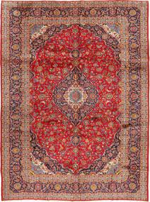 Keshan Matta 298X397 Äkta Orientalisk Handknuten Roströd/Mörkröd Stor (Ull, Persien/Iran)