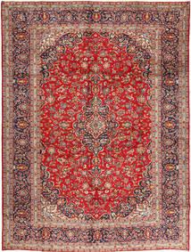 Keshan Matta 305X410 Äkta Orientalisk Handknuten Mörkröd/Roströd Stor (Ull, Persien/Iran)