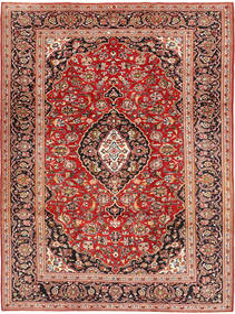 Keshan Matta 224X315 Äkta Orientalisk Handknuten Roströd/Mörkbrun (Ull, Persien/Iran)