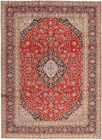 Keshan Matta 250X340 Äkta Orientalisk Handknuten Ljusbrun/Roströd Stor (Ull, Persien/Iran)