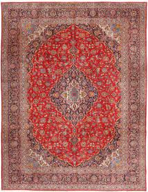 Keshan Matta 315X420 Äkta Orientalisk Handknuten Mörkröd/Roströd Stor (Ull, Persien/Iran)