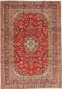 Keshan Matta 243X355 Äkta Orientalisk Handknuten Roströd/Mörkröd (Ull, Persien/Iran)