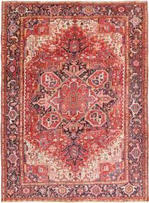Heriz Matta 260X354 Äkta Orientalisk Handknuten Roströd/Mörkbrun Stor (Ull, Persien/Iran)