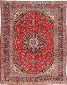 Keshan Matta 303X388 Äkta Orientalisk Handknuten Mörkröd/Roströd Stor (Ull, Persien/Iran)