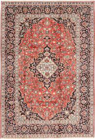 Keshan Matta 202X300 Äkta Orientalisk Handknuten Ljusbrun/Mörkröd (Ull, Persien/Iran)