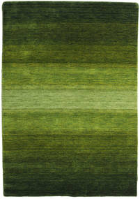 Gabbeh Rainbow - Grön Matta 140X200 Modern Mörkgrön/Olivgrön (Ull, Indien)
