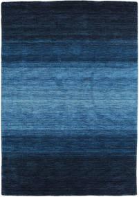 Gabbeh Rainbow - Blå Matta 140X200 Modern Mörkblå/Blå (Ull, Indien)