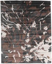 Nepal Original Matta 240X301 Äkta Modern Handknuten Mörkgrå/Mörkbrun (Ull/Bambusilke, Nepal/Tibet)