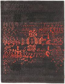 Roma Moderna Collection Matta 178X233 Äkta Modern Handknuten Mörkgrå/Mörkbrun ( Indien)