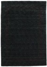 Handloom Gabba - Svart/Grå Matta 160X230 Modern Svart (Ull, Indien)