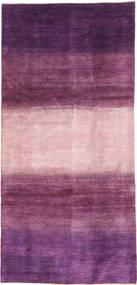 Gabbeh Persisk Matta 128X280 Äkta Modern Handknuten Hallmatta Mörklila/Ljusrosa/Rosa (Ull, Persien/Iran)